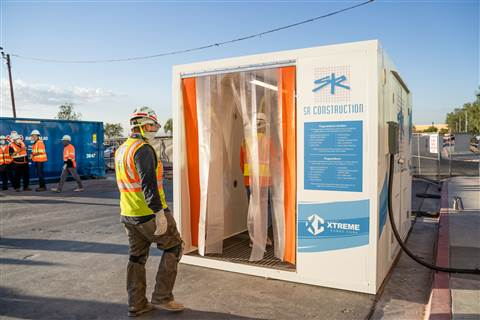Preview US contractor the first to use Opti-Clean Cube to fight pandemic
